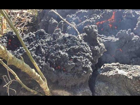 Lava de volcán de Pacaya avanza