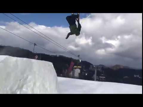 Seamus O Connor and Bubba Newby Team Ireland at the slopes in PyeongChang. Credit: Corey Jackson