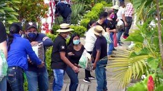 Cadena de solidaridad indígena en Colombia