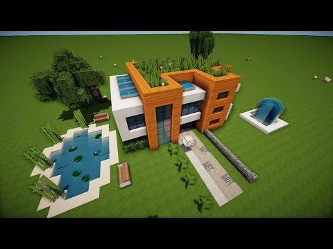 minecraft moderne luxus villa mit moderner einrichtung und viel redstone download neu download. Black Bedroom Furniture Sets. Home Design Ideas