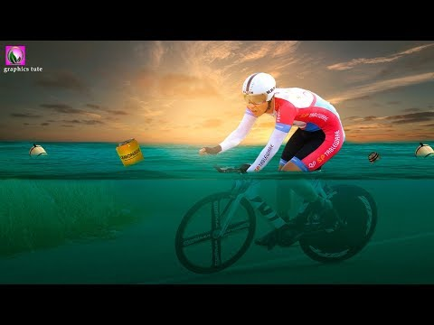 Cycle Race In Water Photo Manipulation   Photoshop Tutorial