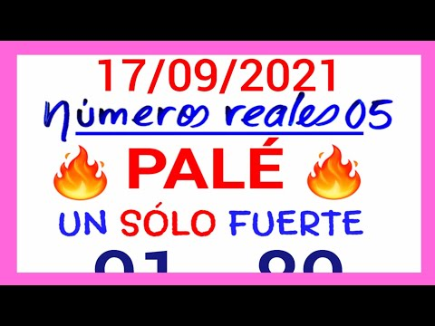 NÚMEROS PARA HOY 17/09/21 DE SEPTIEMBRE PARA TODAS LAS LOTERÍAS...!! Números reales 05 para hoy...!!