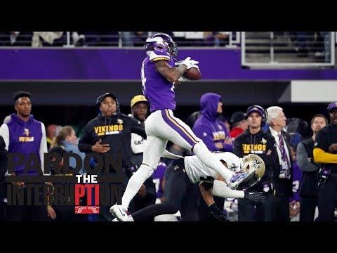 connectYoutube - The New Orleans Saints' missed tackle just can't happen | Pardon The Interruption | ESPN