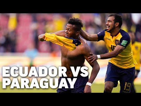 Eliminatorias Sudamericanas fecha 9   Ecuador 2 - Paraguay 0   Qatar 2022