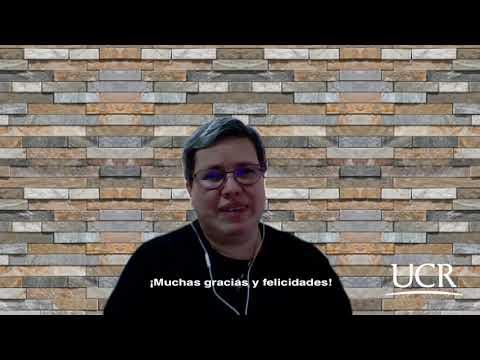 Mensaje de felicitación del 60 aniversario por parte de la Dra  Grettchen Flores Sandí