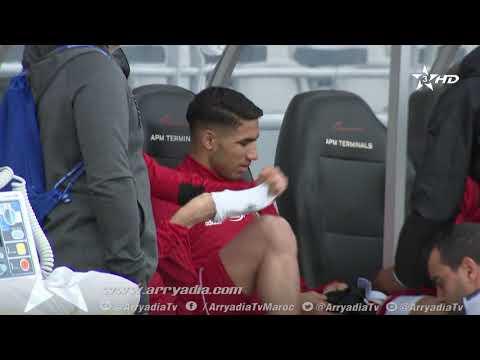 شاهد تداريب المنتخب المغربي بمشاركة زياش استعدادا للارجنتين