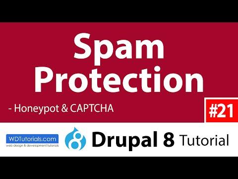 Spam Protection (Honeypot, CAPTCHA) (Drupal 8 Tutorial #21)