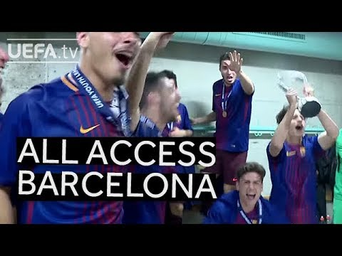 Behind the Scenes: Barcelona Dressing Room Celebrations!