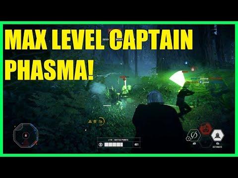 Star Wars Battlefront 2 - Fully upgraded Captain Phasma vs Luke and Yoda at SAME TIME!
