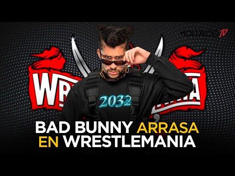 Bad Bunny arrasa en Wrestlemania y vuelve tendencia los selfies desnudos