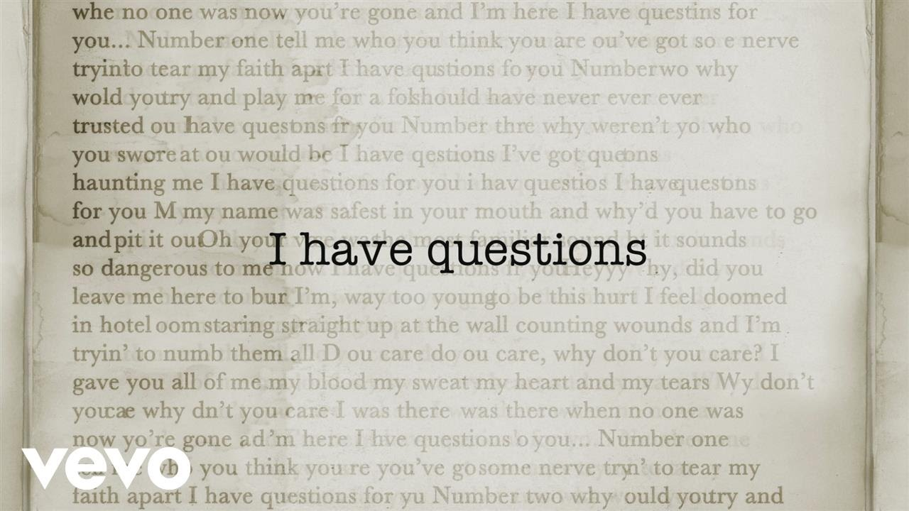 Camila Cabello - I Have Questions (Lyric Video)