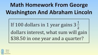 Presidents' Day Special. Math Homework of George Washington And Abraham Lincoln