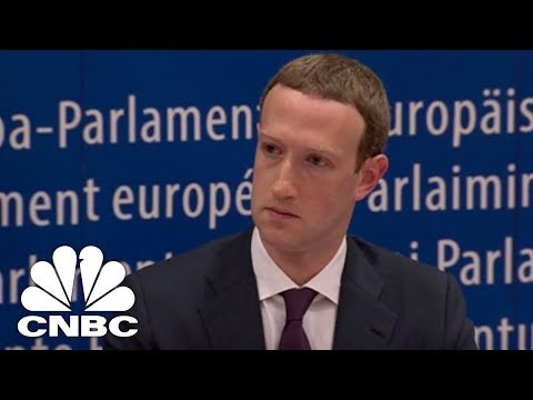 LIVE: Facebook's Mark Zuckerberg Testifies Before European Parliament - May 22, 2018   CNBC