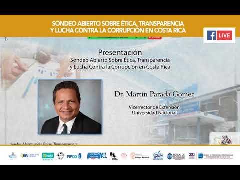 Sondeo Abierto sobre Ética, Transparencia y Lucha contra la Corrupción en Costa Rica