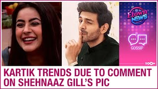 Kartik Aaryan trends on Twitter after his comment on Shehnaaz Gill's picture - ZOOMDEKHO