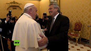 El papa Francisco recibe al presidente de Argentina, Alberto Fernández