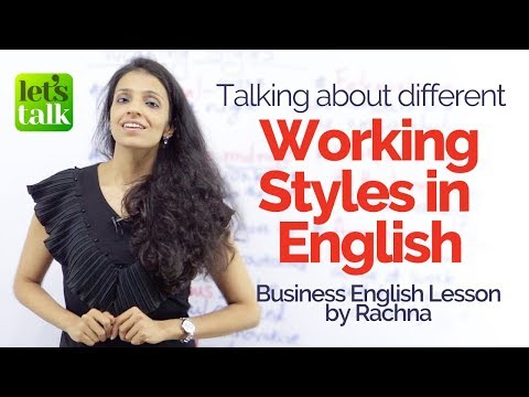 connectYoutube - Talking about 'Different Working Styles in English' – Learn new Business English vocabulary