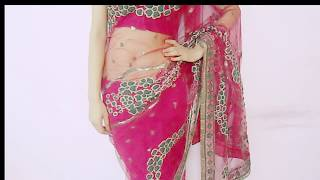How To Drape Net Saree Party Saree