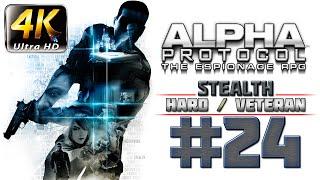 Alpha Protocol Walkthrough (4k PC) HARD / VETERAN - Part 24 - ROME - Intercept Marburg