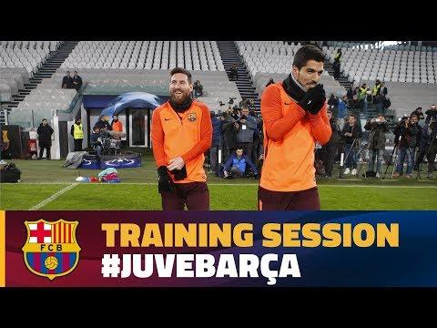 Training session at Juventus Stadium