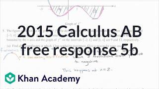 2015 AP Calculus AB 5b