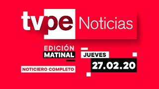 Entérate de lo último del acontecer nacional e internacional en TVPerú Noticias Edición Matinal