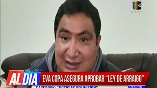 Eva Copa asegura aprobar 'ley de arraigo'