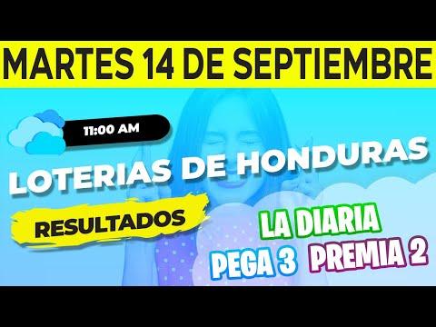 Sorteo 11AM Loto Honduras, La Diaria Pega 3 Premia 2, Martes 14 de Septiembre del 2021   Ganador