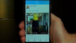 Share videos on Twitter