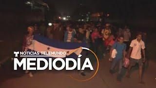 Primera caravana de migrantes del 2020 sale de Honduras hacia EE.UU. | Noticias Telemundo