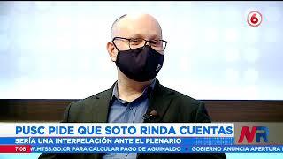 PUSC pide que Soto rinda cuentas en el plenario por policías infiltrados en manifestación