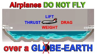 Airplanes DO NOT FLY over a globe-Earth! Here's Why....