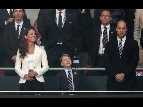 Euro 2020 : le prince George, fils de Wililam et Kate, euphorique malgré la défaite...