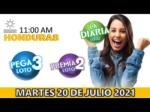 Sorteo 11 AM Resultado Loto Honduras, La Diaria, Pega 3, Premia 2, Martes 20 de julio 2021  
