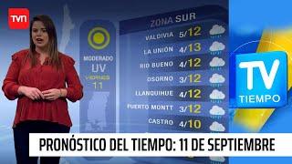Pronóstico del tiempo: Viernes 11 de septiembre | TV Tiempo