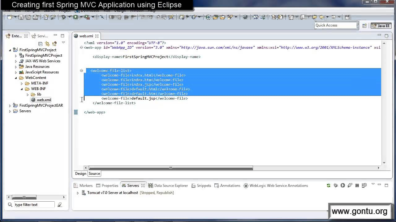 Spring MVC Tutorials 05 - Creating first Spring MVC Web Application using Eclipse IDE (01)