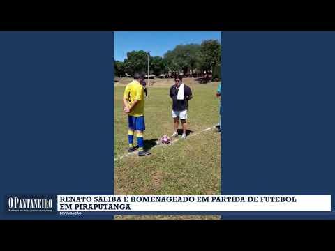 Renato Saliba é homenageado em partida de Futebol
