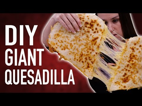 connectYoutube - DIY GIANT QUESADILLA + EATING COMPETITION