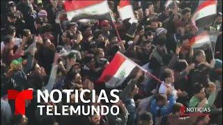 Miles de iraquíes protestan contra ataques de Estados Unidos   Noticias Telemundo