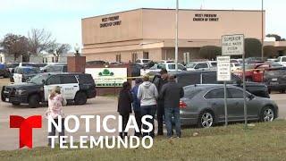 Tiroteo en una iglesia de Texas deja dos muertos y un herido | Noticias Telemundo
