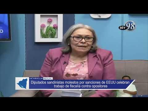 Diputados sandinistas molestos por sanciones de EEUU celebran trabajo de fiscalía contra opositores