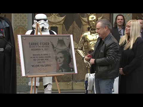 Carrie Fisher celebrated in Hollywood