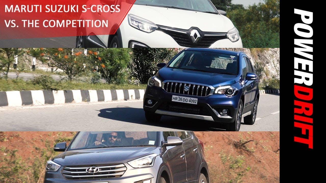 Maruti S Cross vsRenault Captur vs Hyundai Creta : Quick Comparo : PowerDrift