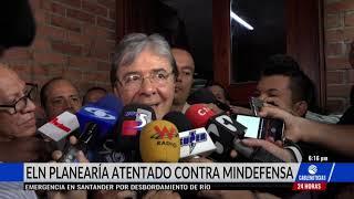 Eln tendría amenazado al ministro de Defensa Carlos Holmes Trujillo