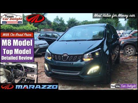Marazzo M8 Top Model Detailed Review with On Road Price,Features,Interior | Marazzo Aqua/Grey