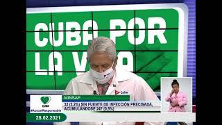 Conferencia de Prensa: Cuba frente a la COVID-19 (28 de febrero de 2021)