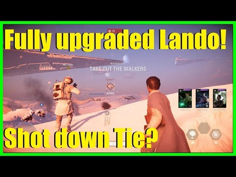 Star Wars Battlefront 2 - Fully upgraded Lando time! | NT-242 Sniper gameplay!