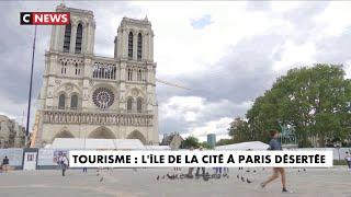 A Paris, l'Île de la Cité est désertée par les touristes