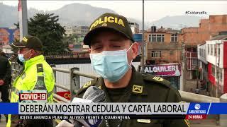 Así fue el primer día de cuarentena nacional en Bogotá