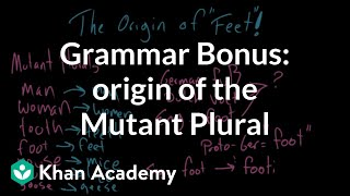 BONUS VIDEO – Origin of the Mutant Plural | The parts of speech | Grammar